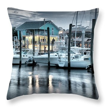 Throw Pillow featuring the photograph Whiskey Creek At Dusk by Phil Mancuso