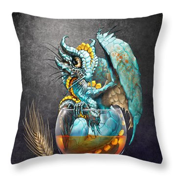 Whiskey Dragon Throw Pillow