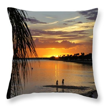 Throw Pillow featuring the photograph Whiskey Joe's by Laurie Perry