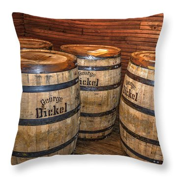 Whisky Barrels Throw Pillow