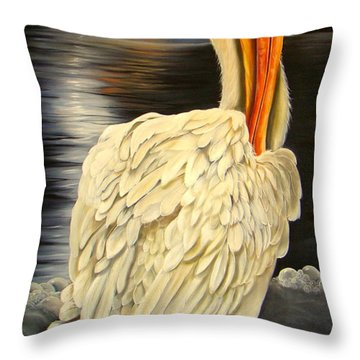 Throw Pillow featuring the painting Whisper And Shout by Phyllis Beiser