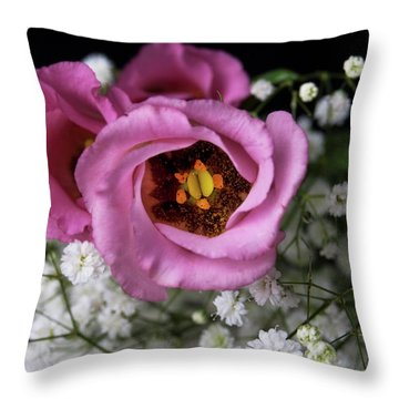 Whisper Of Love.. Throw Pillow by Nina Stavlund