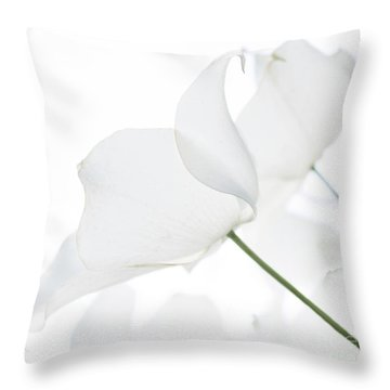 Whisper Of White Throw Pillow