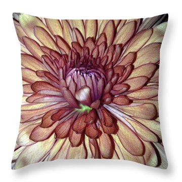 Whispering Bud Throw Pillow