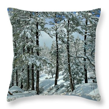Whispering Snow Throw Pillow