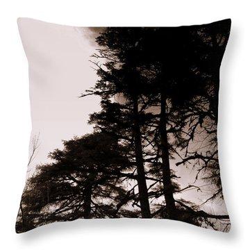 Whispering Trees Throw Pillow by Salman Ravish