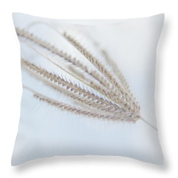 Whispering Weed Throw Pillow