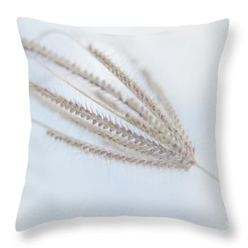 Whispering Weed Throw Pillow by Vicki Ferrari