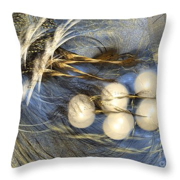Whispering Wind - Abstract Art Throw Pillow