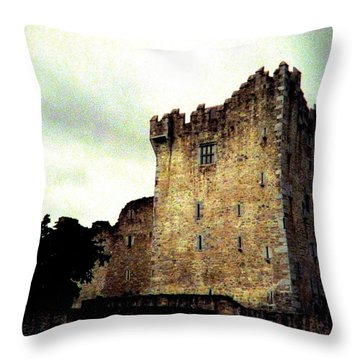 Throw Pillow featuring the photograph Whispers And Footsteps by Angela Davies