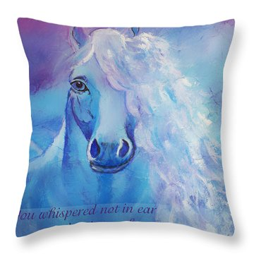 Whispers To My Heart Throw Pillow by The Art With A Heart By Charlotte Phillips