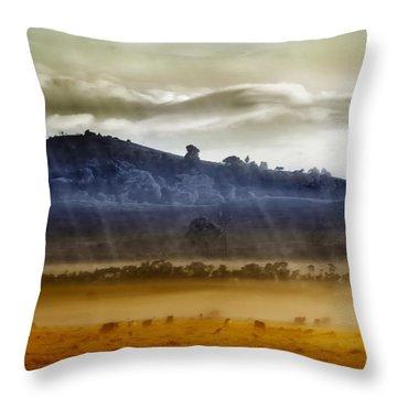 Whisps Of Velvet Rains... Throw Pillow