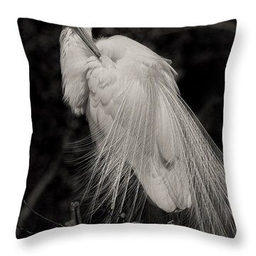 Whispy And Delicate Throw Pillow