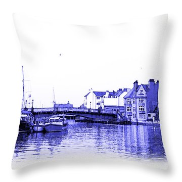 Throw Pillow featuring the photograph Whitby Harbor by Jane McIlroy