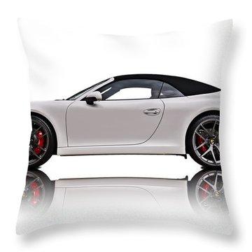 White 911 Throw Pillow