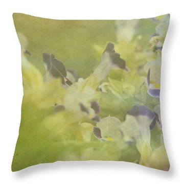 White And Violet Flowers Throw Pillow