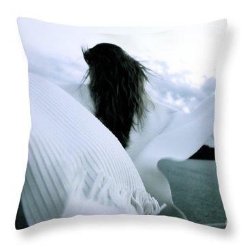 White Angel Throw Pillow