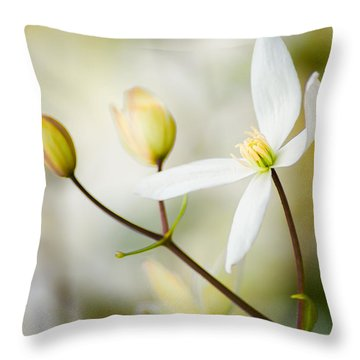 White Awake Throw Pillow