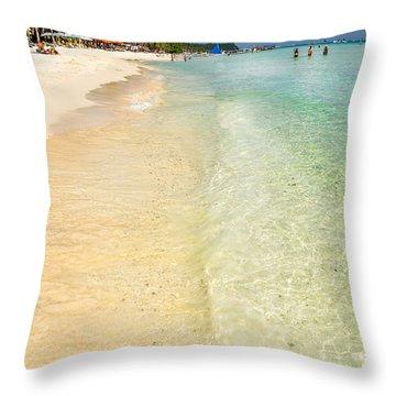 White Beach Boracay Throw Pillow