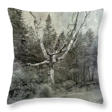 White Birch Last Statement  Throw Pillow