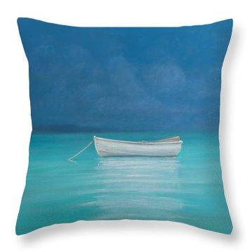 White Boat Kilifi  Throw Pillow