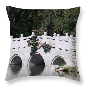 Throw Pillow featuring the photograph White Bridge by George Mount