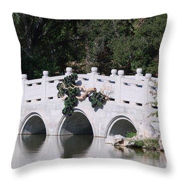 White Bridge Throw Pillow by George Mount