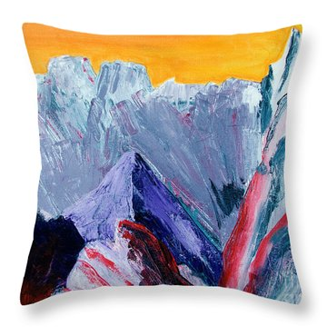 White Canyon Throw Pillow