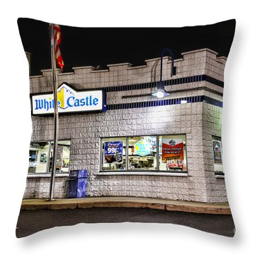 White Castle 2 Throw Pillow by Paul Ward