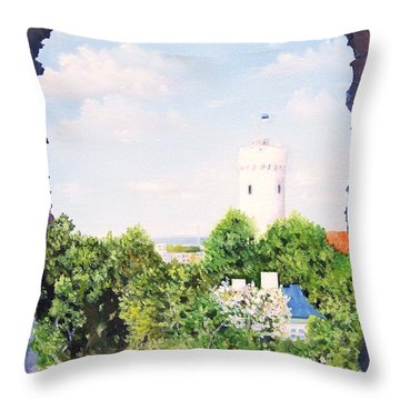 White Castle In Tallinn Estonia Throw Pillow