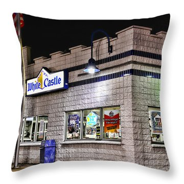 White Castle Throw Pillow by Paul Ward