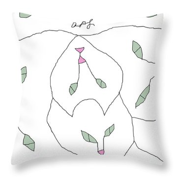 White Cats Throw Pillow
