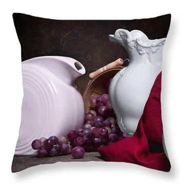 White Ceramic Still Life Throw Pillow
