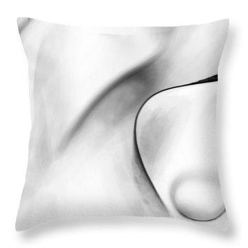 White Charcoal Throw Pillow by Theresa Tahara