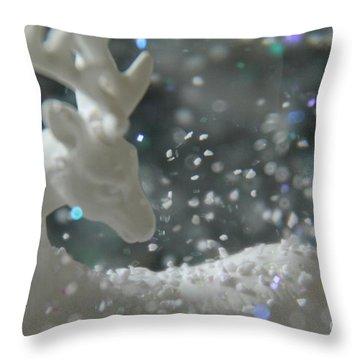 White Christmas II Throw Pillow