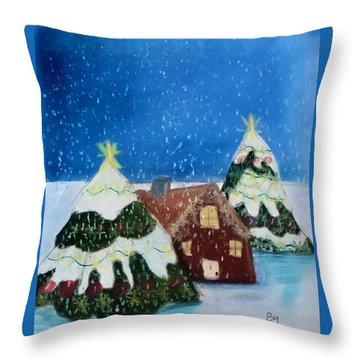 Christmasland Throw Pillow