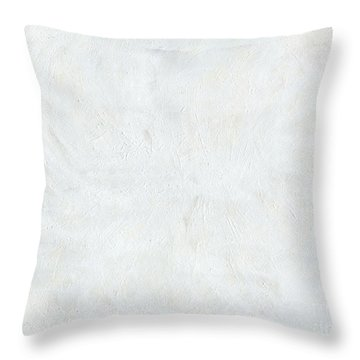 White Color Of Energy Throw Pillow by Ania Milo