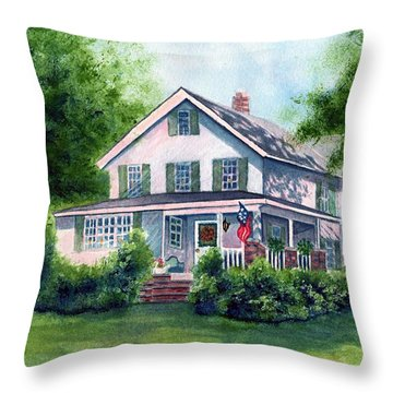White Country Farmhouse Throw Pillow