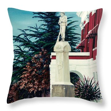 White County Courthouse - Civil War Memorial Throw Pillow