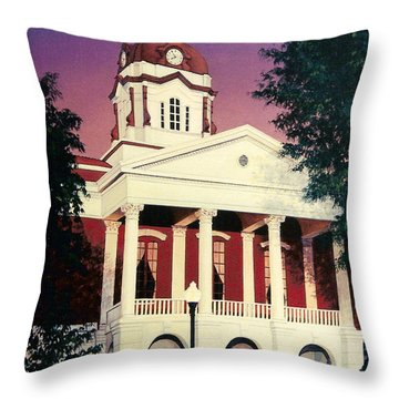 White County Courthouse Throw Pillow