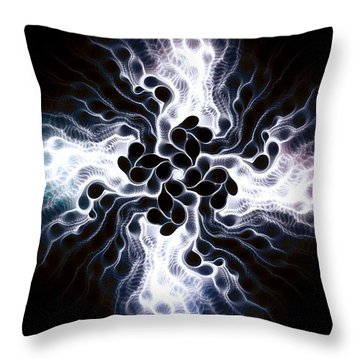 White Cross Throw Pillow by Anastasiya Malakhova