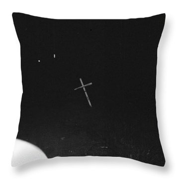 Throw Pillow featuring the photograph White Cross by Steven Macanka