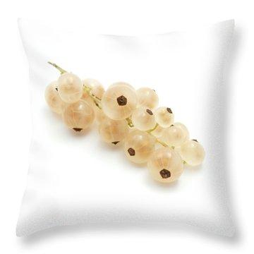 White Currant  Throw Pillow by Fabrizio Troiani