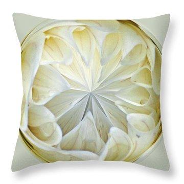 White Dahlia Orb Throw Pillow
