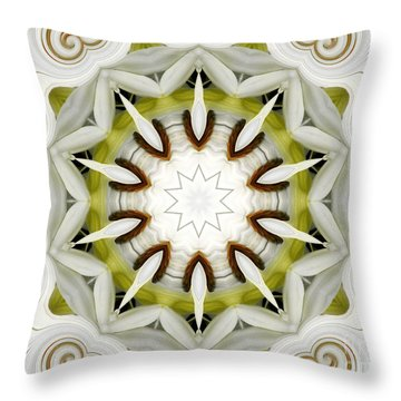 Throw Pillow featuring the photograph White Daisies Kaleidoscope by Rose Santuci-Sofranko