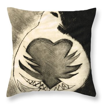 White Dove Art - Comfort - By Sharon Cummings Throw Pillow by Sharon Cummings