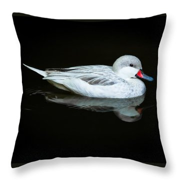 White Duck Throw Pillow