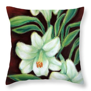 White Elegance Throw Pillow