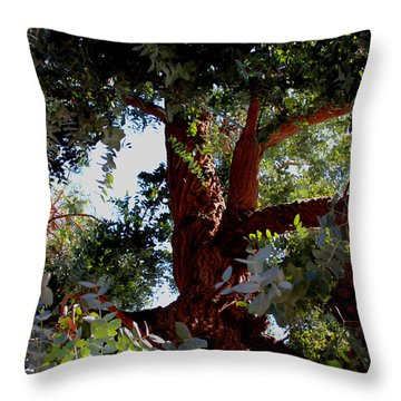 White Eucalyptus 2 Throw Pillow