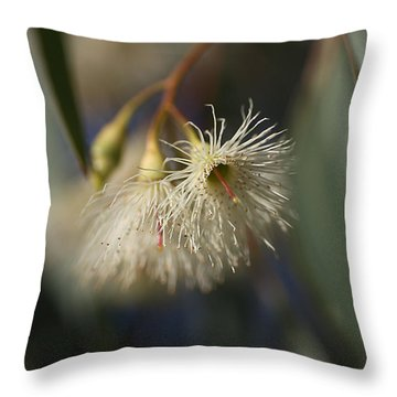 White Eucalyptus  Throw Pillow by Joy Watson